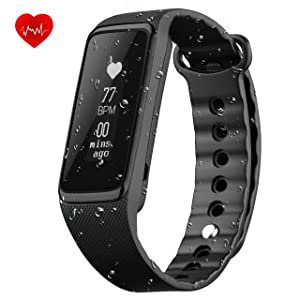 Fitness Tracker with Heart Rate Monitor, OMorc IP68 Waterproof 24-Hour Auto Activity Wristband Bracelet , Smart Bracelet with Walking and Running Pedometer, Sleep Monitor Calories Counter for iOS Android Smartphones (Weloop)
