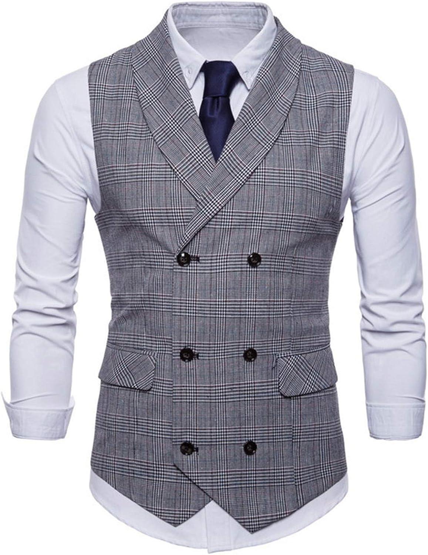 Mens Suit Vest Sleeveless Male Waistcoat Slim Fit Vest Waistcoat Business Wedding Classic Masculino Social Blazer