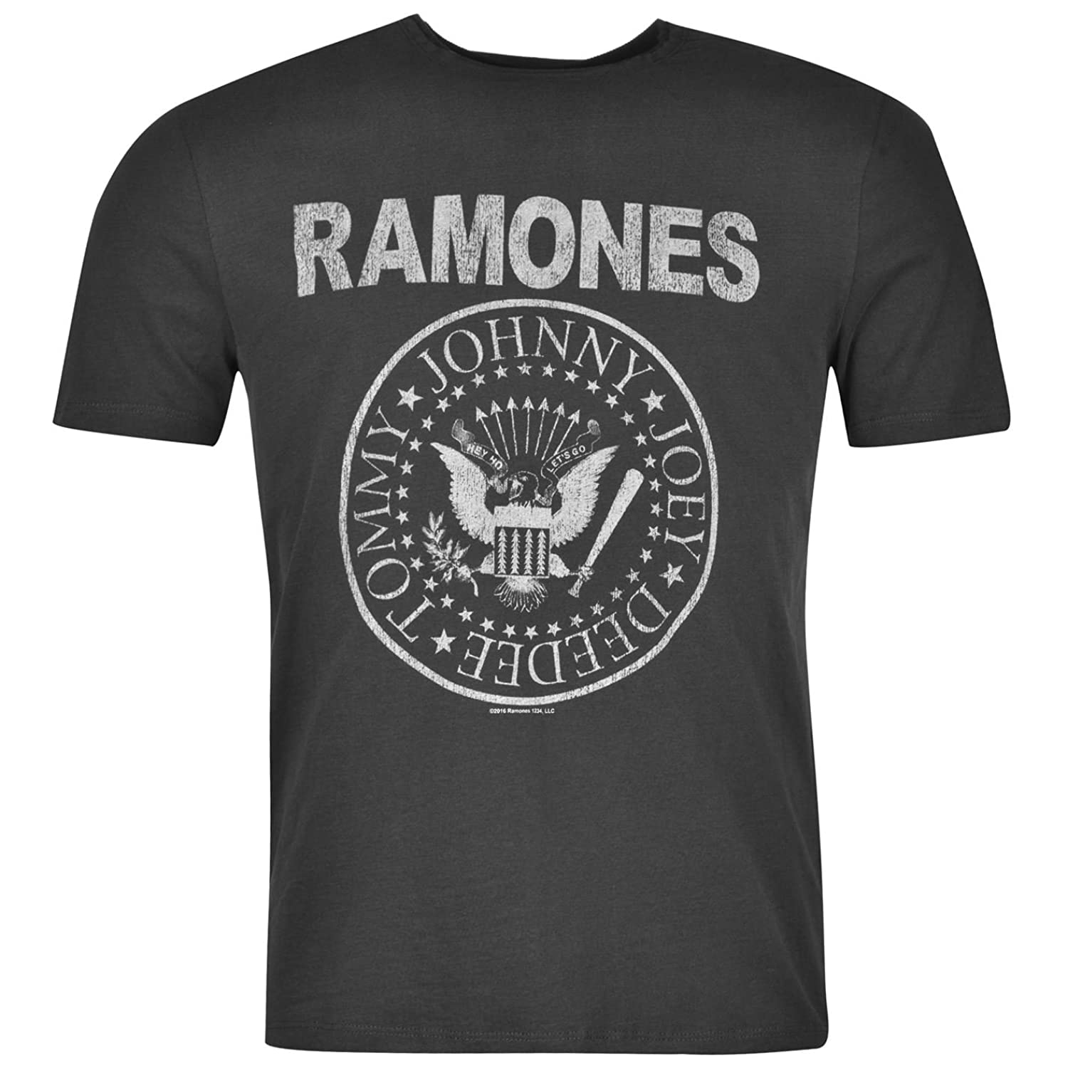 Amplified Clothing Mens The Ramones Crew Neck Short Sleeve T-Shirt Tee Top Casual