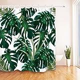 jstel 2 pcs voile de rideau de fen tre tropical l gant. Black Bedroom Furniture Sets. Home Design Ideas