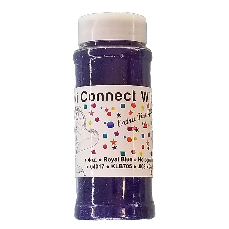 Royal Blue, Extra Fine Holographic Glitter 1/128, 4oz Shaker Bottle Craftwork Products Co . Ltd.