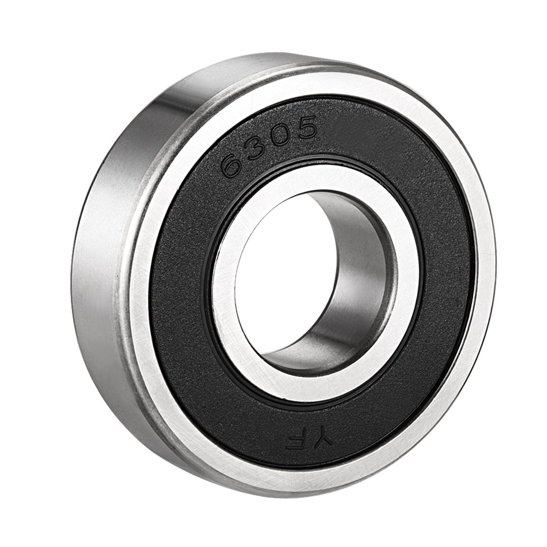 10mm x 30mm x 9mm Chrome Steel Bearings Pack of 1 sourcing map 6200RS Deep Groove Ball Bearing Single Sealed 160200