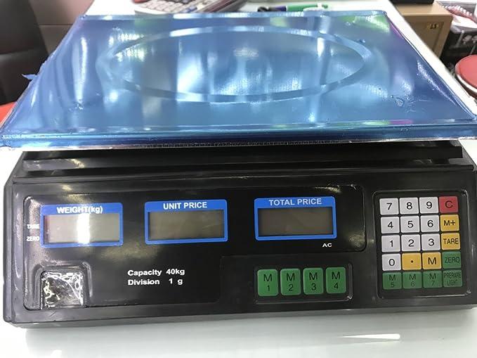 GJJ Versión En Inglés De Los Precios Electrónicos Llamados Básculas De Frutas - Básculas Electrónicas - Plataforma De Precios Electrónicos Escalas 30Kg ...