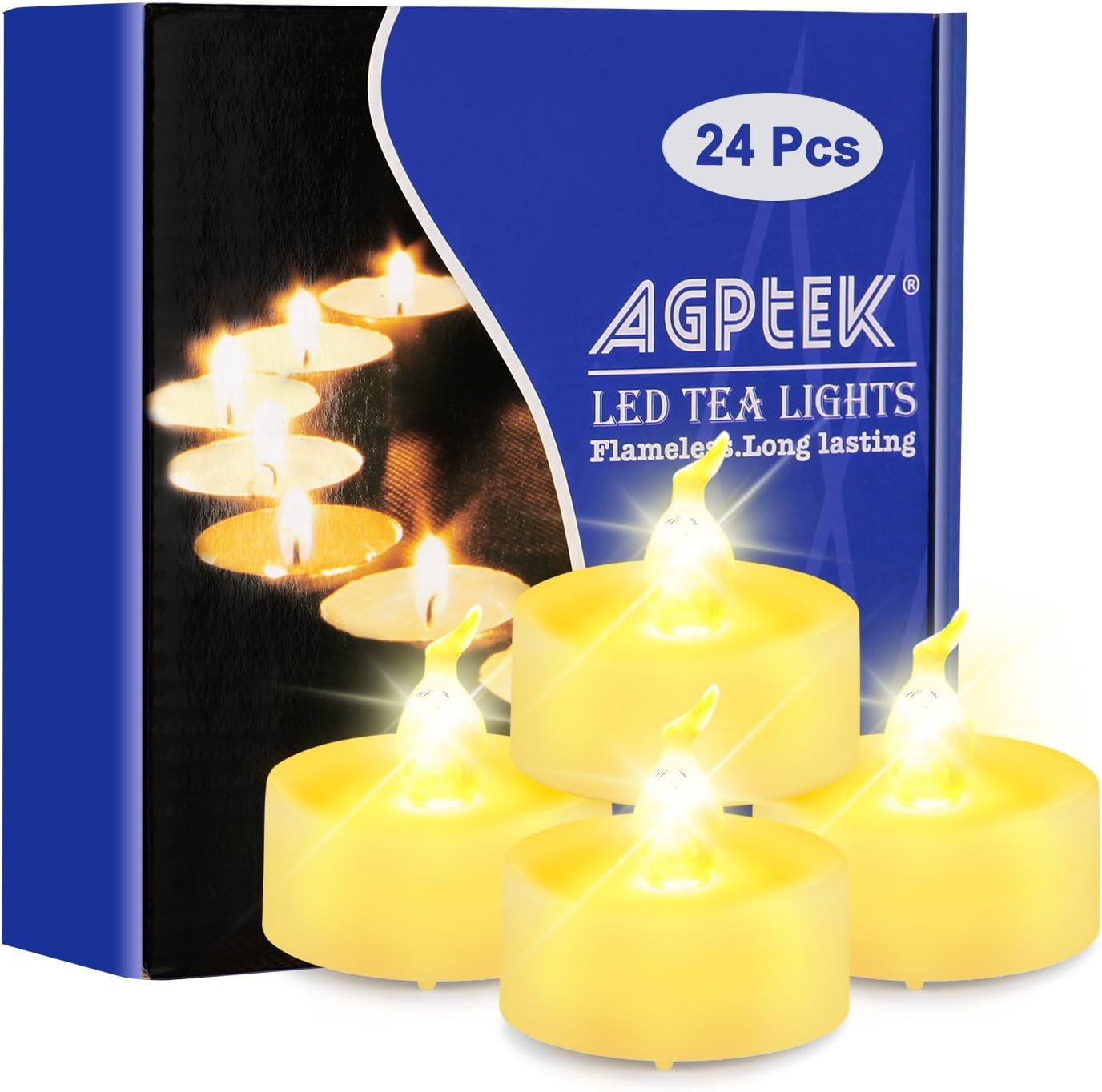 LED Teelicht Kerzen f/ür Outdoor Halloween K/ürbis Licht Weihnachten Dekorationen Flammenlose flackernde LED-Votivkerzen batteriebetrieben mit Timer//6 Stunden an und 18 Stunden aus pro Zyklus