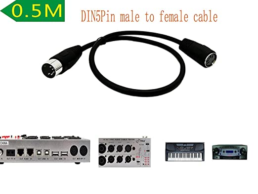 10ft MIDI Male~Female Extension Cable 5pin DIN Digital Audio,synthesizer$SH DISC