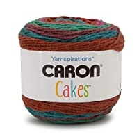 Caron Cakes Self Striping Yarn 383 yd/350 m 7.1 oz/200 g (Rum Raisin)