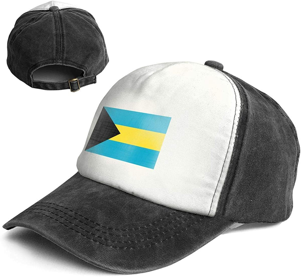 Fashion Vintage Hat Bahamas Flag Adjustable Dad Hat Baseball Cowboy Cap