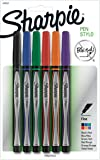 Sharpie Pen, Fine Point, 6-Count, Assorted Colors