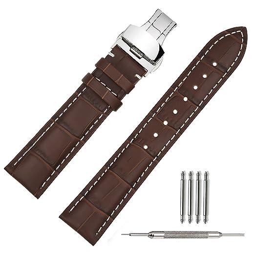 3 opinioni per TStrap Cinturino 20mm per Orologio da Polso da Cambio di Pelle Chiusura