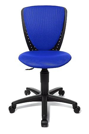 Topstar 70570BB60 High S\'cool, Kinder- und Jugenddrehstuhl,  Schreibtischstuhl für Kinder, Bezugsstoff blau
