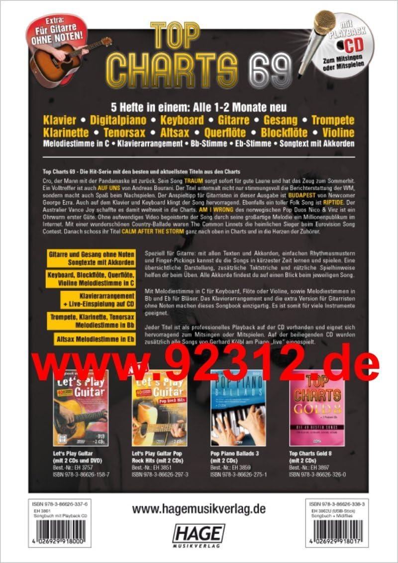 Top Charts 69 + CD Andreas bourani – A nosotros, Cro – sueño ...
