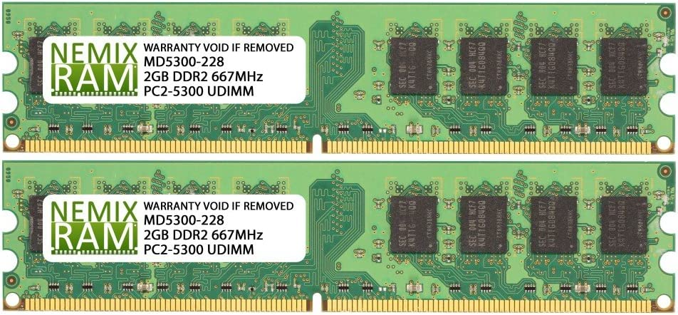 DDR2-667 2Rx8 UDIMM Memory for SUPERMICRO Motherboards 2 X 2GB NEMIX RAM 4GB