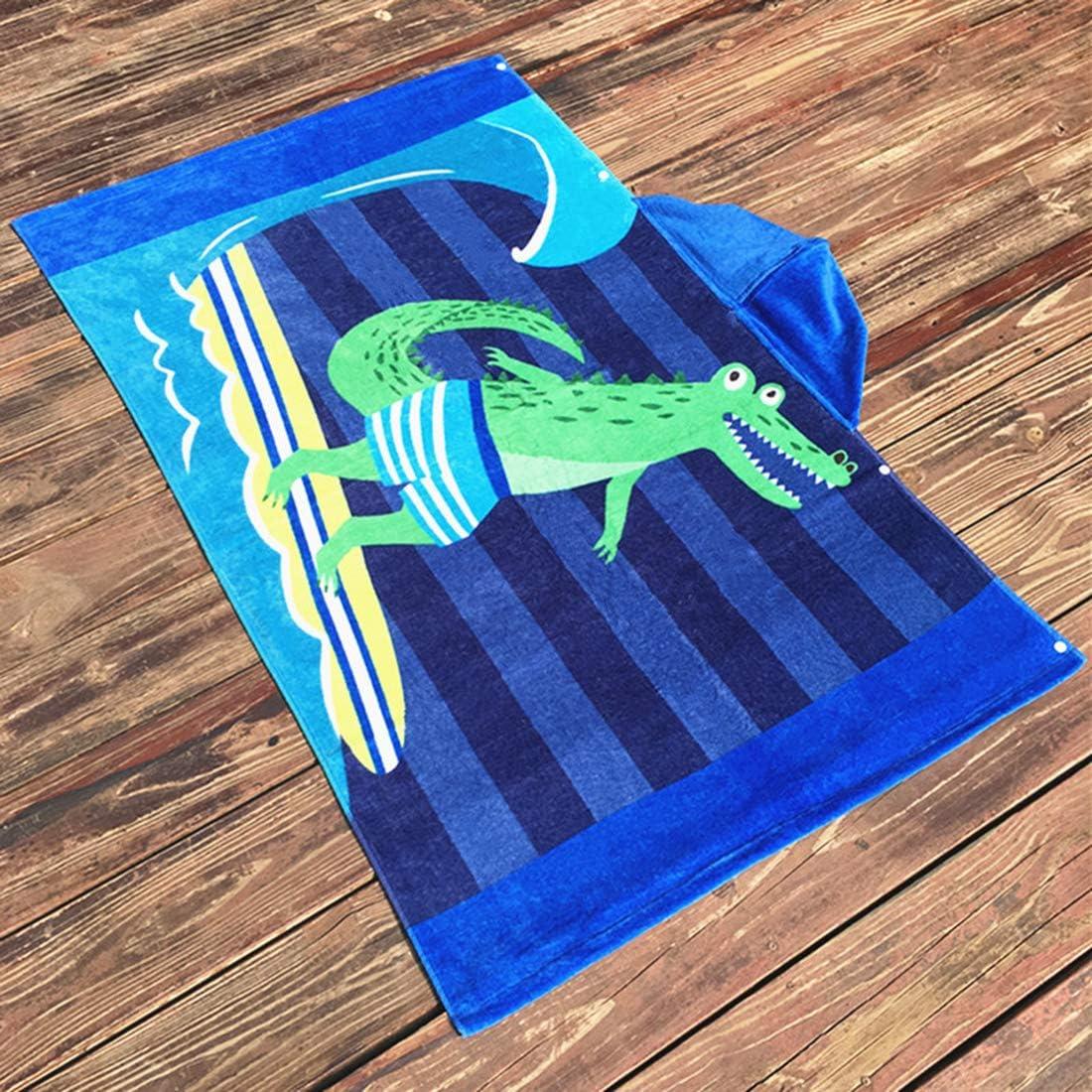 Ymwave Kinder Kapuzen Handtuch Bade Badetuch Bademäntel Strandtuch Badetuch Baby Kapuzentuch für Jungen und Mädchen 100% Baumwolle Krokodil 2