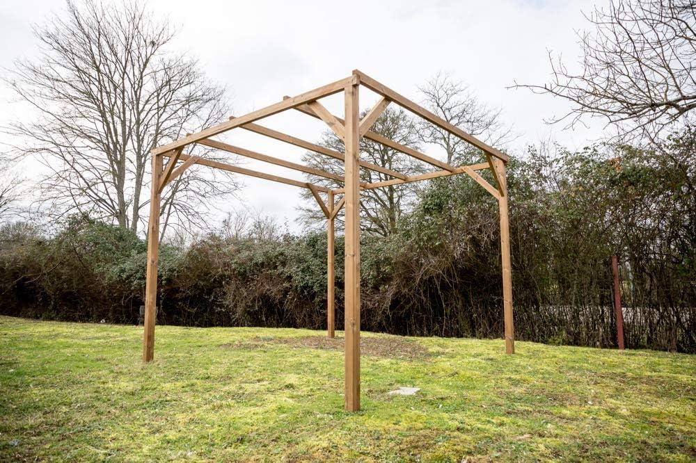 HABRITA Pergola Thonon Madera Thermo chauffé sin Protectora 8, 88 M²: Amazon.es: Jardín