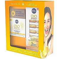 NIVEA Pack Q10 Tratamiento Antiarrugas, caja de regalo con crema de día FP30 (1 x 50 ml) y ampollas antiarrugas (7 uds…