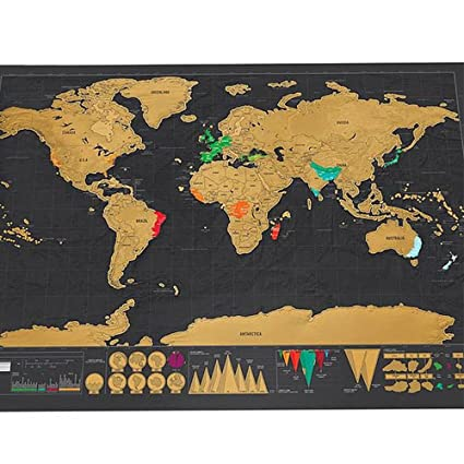 Amazon scratch off world map travel life starry night map 3d scratch off world map travel life starry night map 3d world globe watercolor scratch off gumiabroncs Images