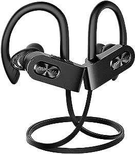 Mpow Flame Bluetooth Headphones IPX7 Waterproof, Wireless Earbuds Sport, Richer Bass HiFi Stereo in-Ear Earphones w/Mic,Case, 8-10 Hrs Playback Cancelling Headsets