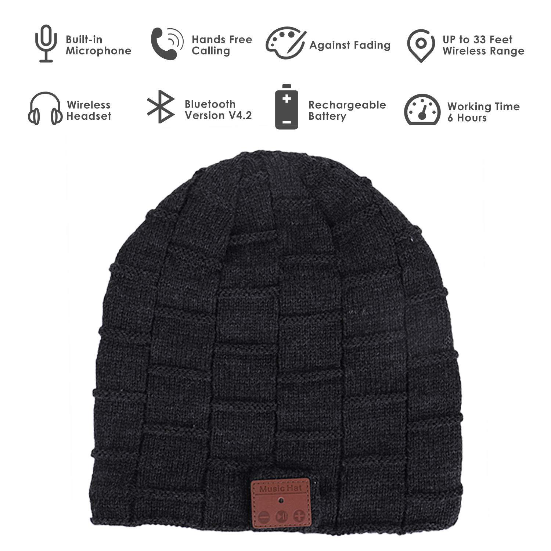 f09f639c9fc Amazon.com  G.D.SMITH Bluetooth Beanie Hat