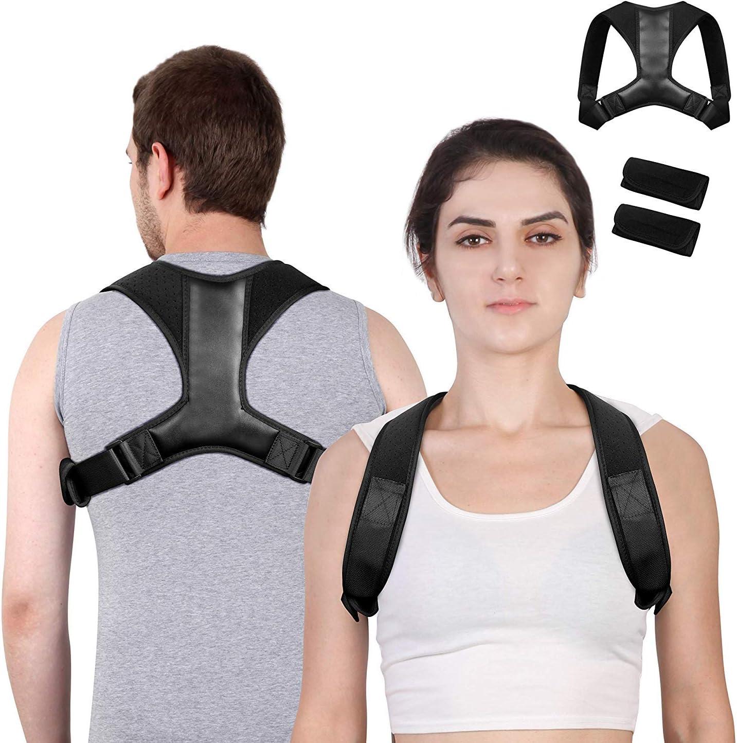 Posture Corrector for Men and Women, Adjustable Upper Invisible Under Cloth Back Brace for Spinal Shoulder Support, Improve Shoulder Back Posture, Neck Pain Relief, Straighten Back