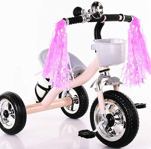 Bicycle Bike Streamers Tricycle Kids Girls Handlebar Grips Tassels 2 Pack GGECU