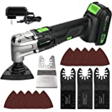GALAX PRO Oscillating Tool, 20V Lithium Ion Cordless Oscillating Multi Tool with 1.3Ah Battery and Charger, 3pcs Blade and 10