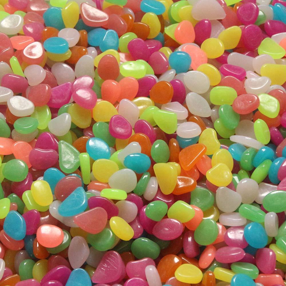 Goodplan Glowing Pebbles im Dunkeln leuchten Helle Stein Kreative Pebbles f/ür Garten Aquarium Paddocks Paddocks Dekoration Bunte 100 Pcs