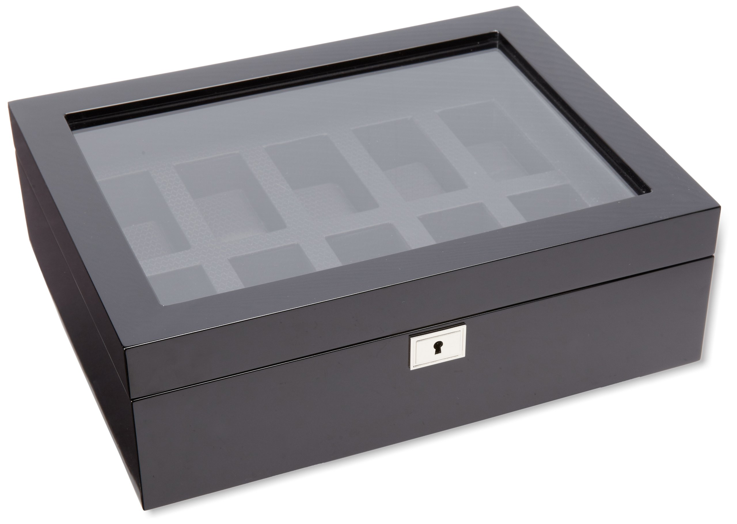 WOLF 461670 Savoy 10 Piece Watch Box, Black by WOLF