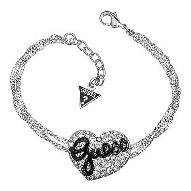 cd2945b7e8be Guess - UBB81101 - Bracelet Femme - Métal argenté - Strass - 18 cm ...