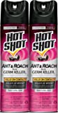 Hot Shot Ant & Roach + Germ Killer (Fresh Floral Scent Aerosol) ,17.5-oz, 2-PK