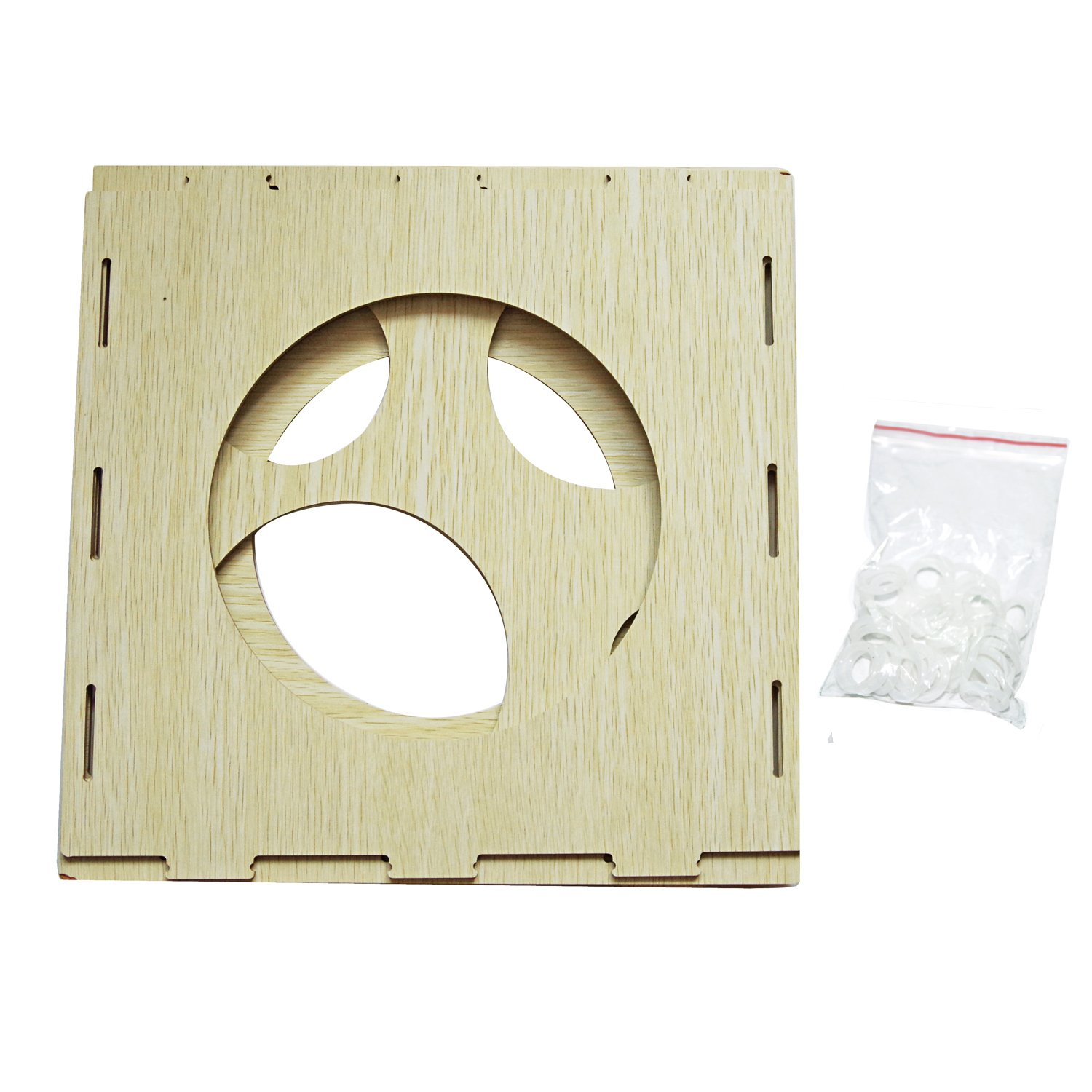 9 Holes Collapsible Wood Cube Balloon Sizer Box From 2'' - 10'' by Jioong (Image #2)