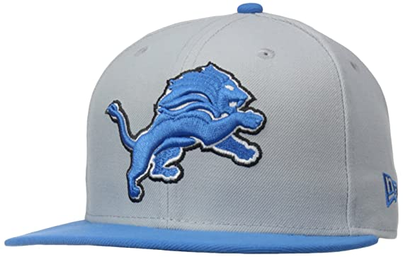 quite nice 0504d 5ac23 Amazon.com   NFL Mens Detroit Lions On Field 5950 White Game Cap By New Era    Sports Fan Baseball Caps   Clothing