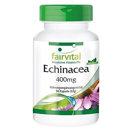 Echinacea 400mg - VEGANO - Altamente dosificado - 90 cápsulas - Echinacea purpurea - ¡Calidad