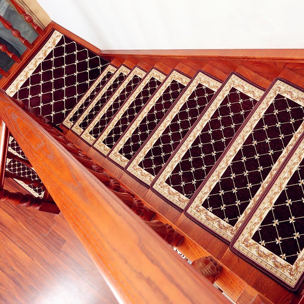 ZZHF Escalera de Madera Maciza Escalera autoadhesiva/Alfombra Antideslizante para el hogar/Alfombrilla antiescaras práctica alfombras de habitacion (Color : C, Tamaño : 30 * 100cm-(A Pack of 5))
