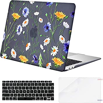 MOSISO MacBook Air 13 Inch Case 2019 2018 Release A1932 with Retina Display Plastic Pattern Hard Case Shell Only Compatible with MacBook Air 13 with Touch ID Pink Marble