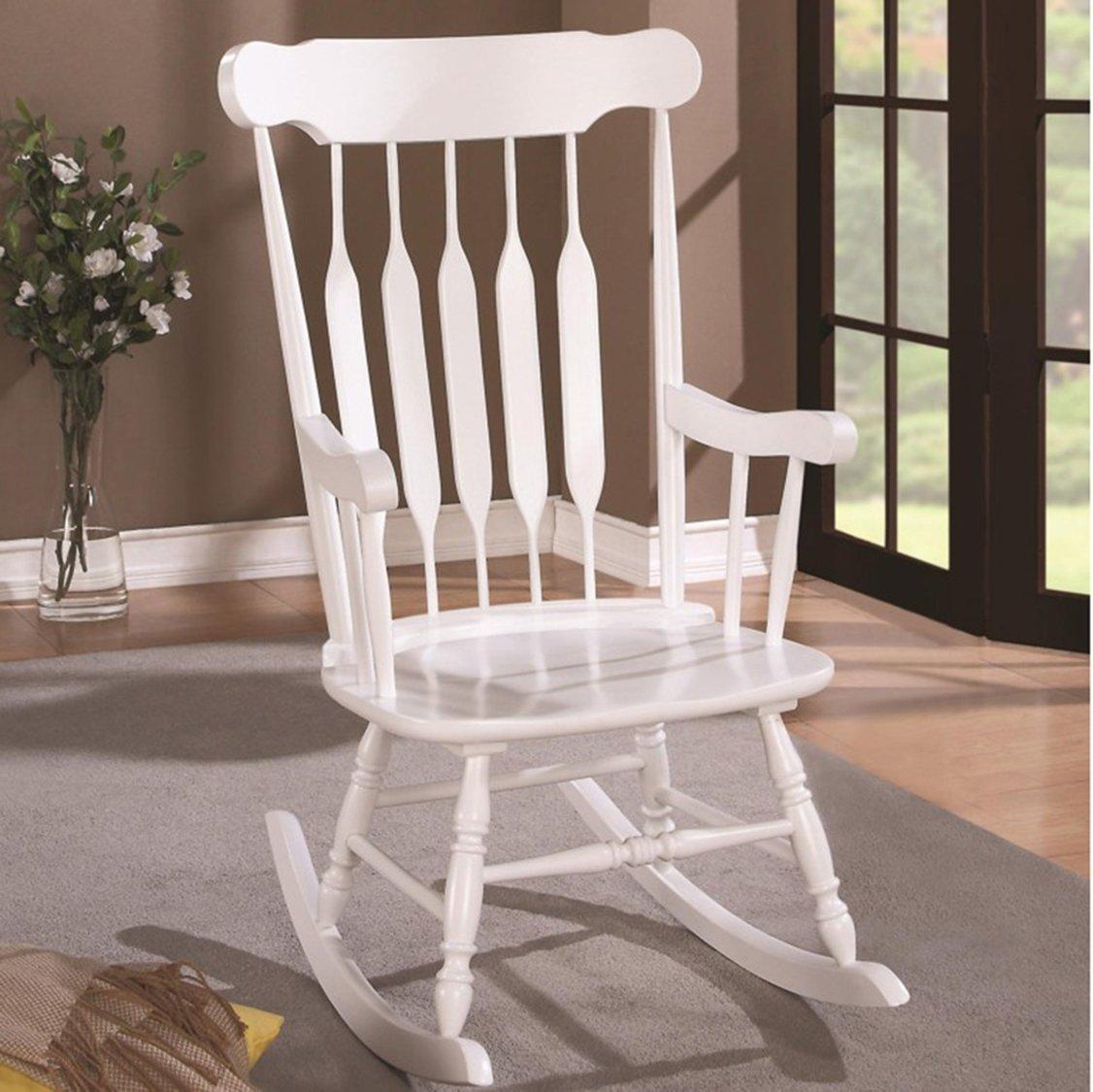 Stupendous Slat Back Rocking Chair White Short Links Chair Design For Home Short Linksinfo
