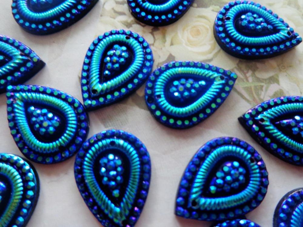 100/piezas 13/* 18/mm forma de gotas de agua perlas de coser en cristales de acr/ílico azul oscuro Gem piedras strass/ /piedras brillantes accesorios
