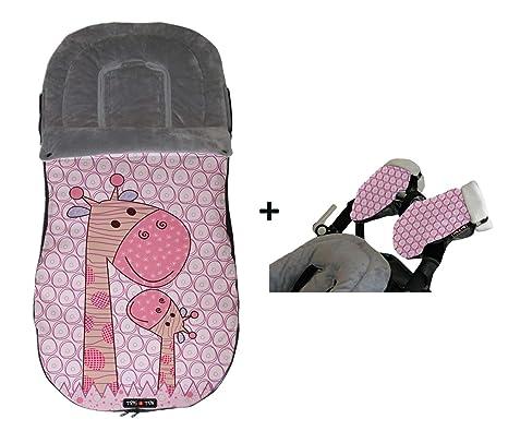Tris&Ton Saco silla de paseo universal para bebe + Guante / Manopla para silla de paseo, saco funda cochecito ...