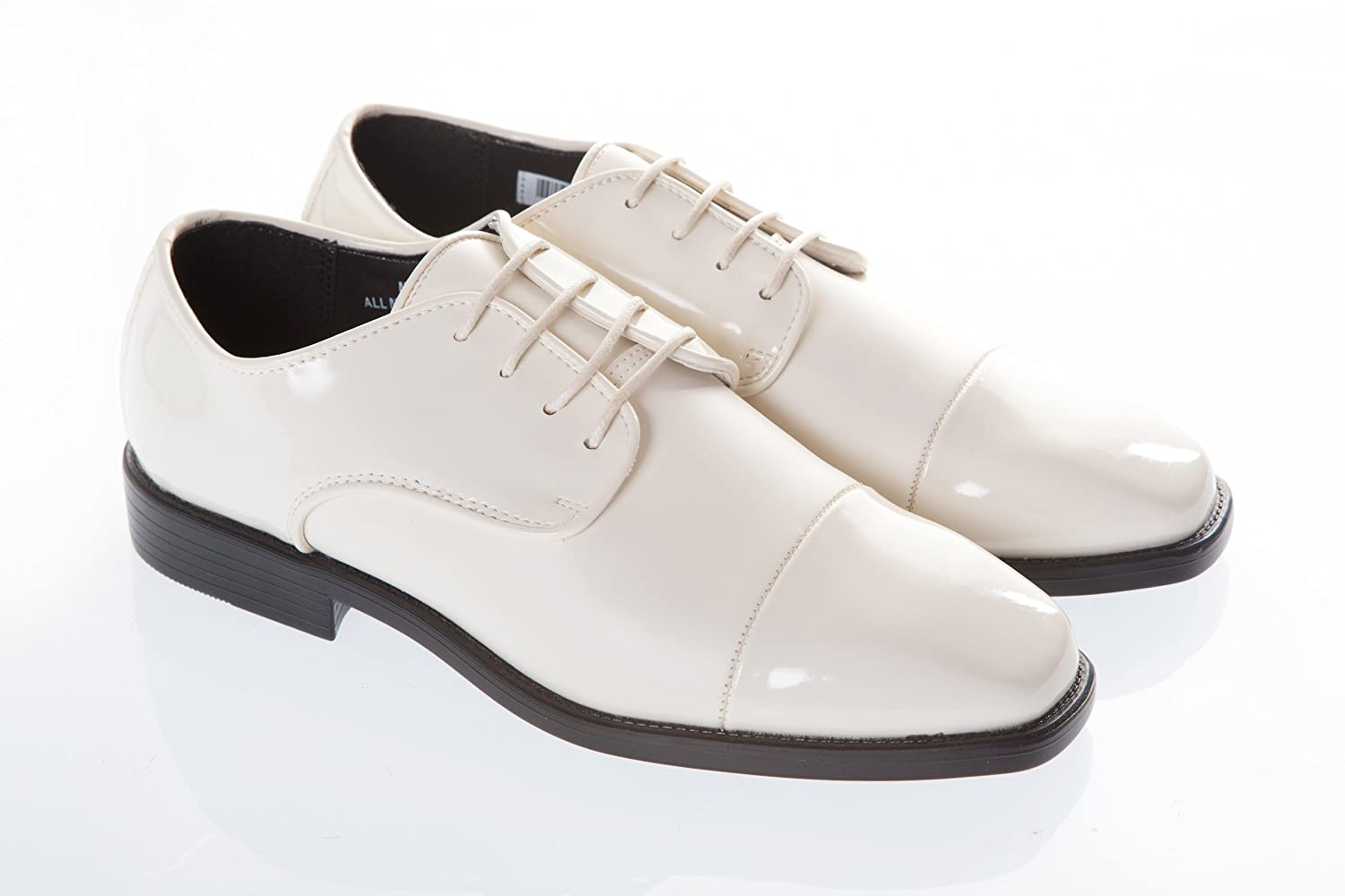 Ivory colored dress shoes for men