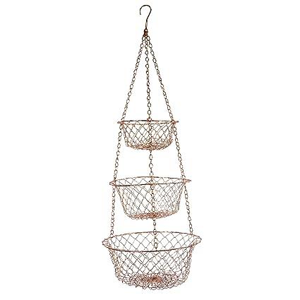 Exceptionnel Fox Run 5211 Hanging Wire Baskets, Copper
