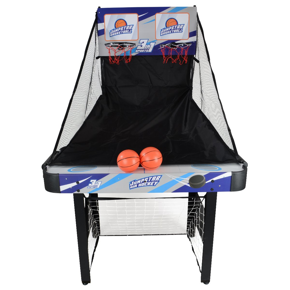 JumpStar 3-In-1 Multi Games Table Childrens Air Hockey Football Basketball 240V