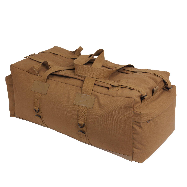Amazon.com: Rothco Canvas Mossad Duffle Bag, Black: Sports & Outdoors
