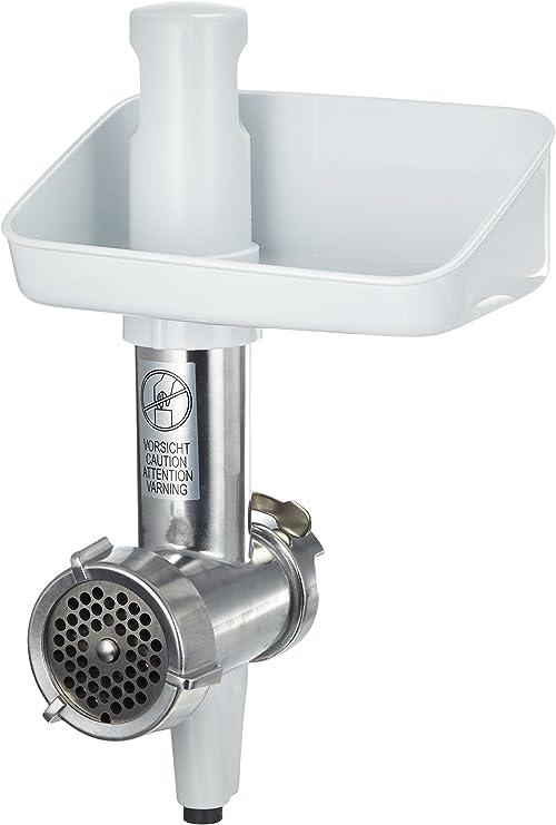 Bosch MUZ4FW3 - Picadora de Carne para Robot de Cocina de la Serie MUM4, Acero Inoxidable/Blanco: Amazon.es: Hogar
