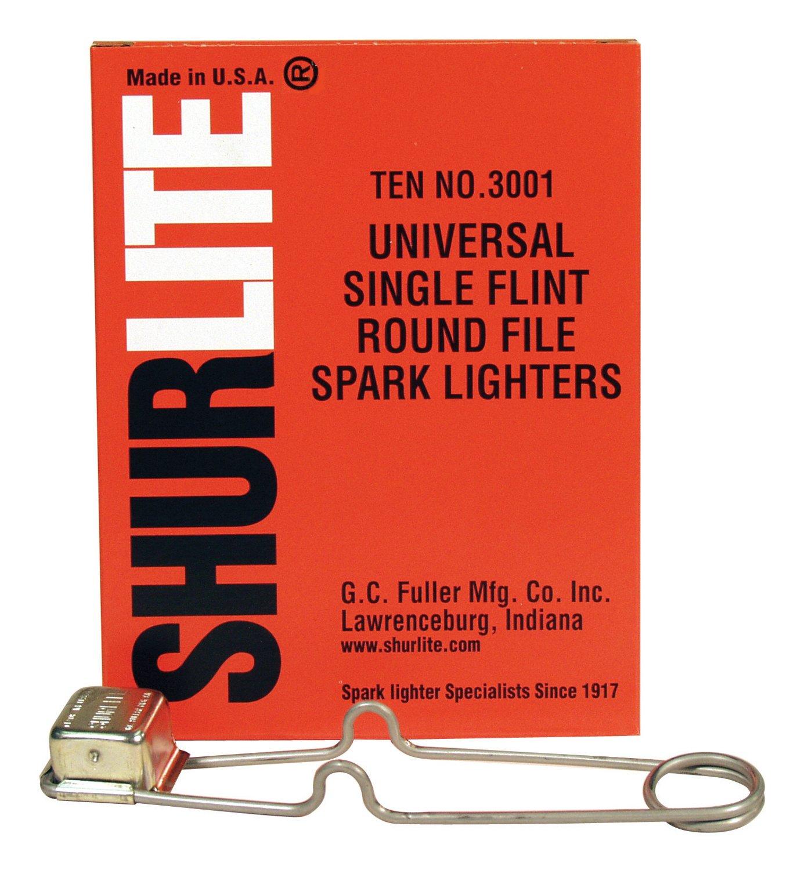 box of 10 Shurlite Triple flint lighters Made in USA GC Fuller