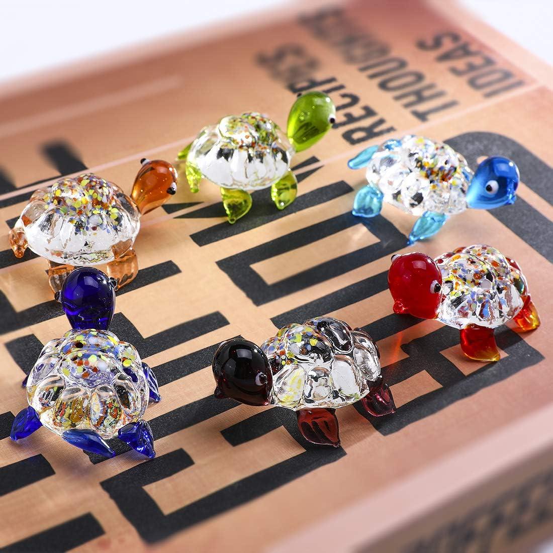 HDCRYSTALGIFTS D/écoration de jardin en verre souffl/é fait /à la main Motif animaux mignons Verre 5 styles.