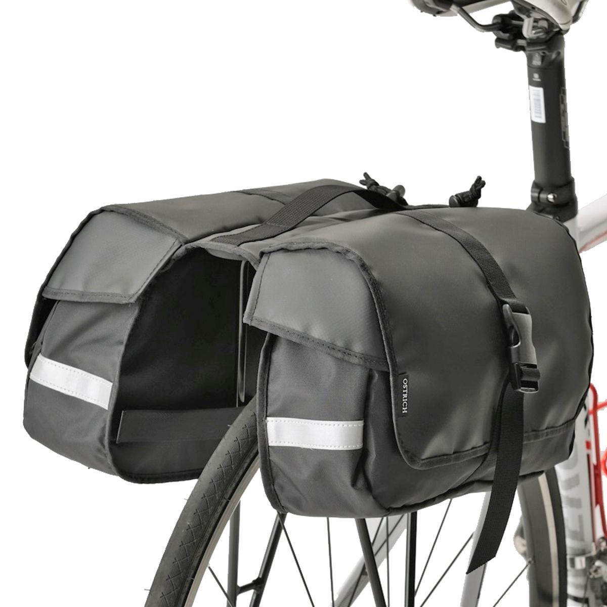 Minoura RC-1000 One Day Pannier Bag and Slim Bicycle Rack Combo, Black