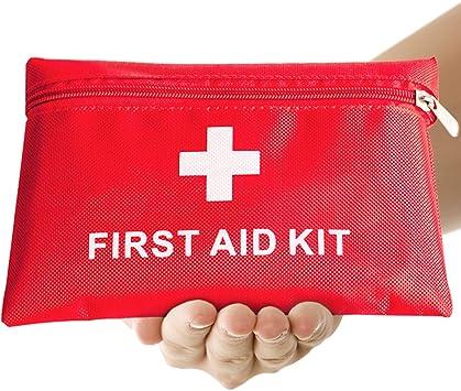 Th-some Botiquín de Primeros Auxilios de 14 artículos, Survival Tools Mini Box Kit Bolsa Médica para Emergencias para el Coche, Hogar, Camping, Caza, Viajes, Aire Libre o DeportesJAANY: Amazon.es: Deportes y aire