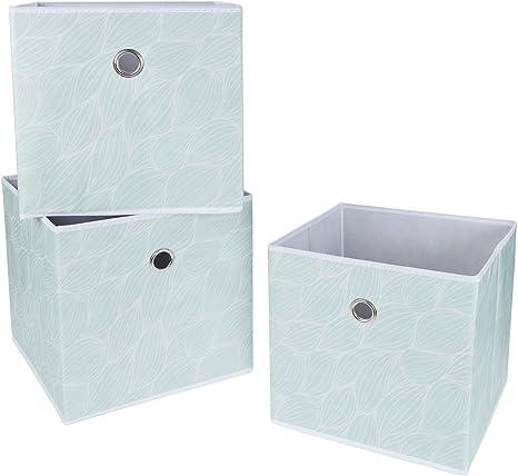 SBS tela plegable cajas de almacenamiento/Cubos - Único patrones (3 unidades). Medidas de cada almacenamiento bin 30cm sobre todas las partes: Amazon.es: Hogar