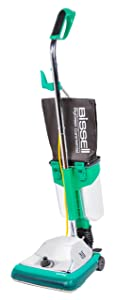 "Bissell BigGreen Commercial BG101DC ProCup Comfort Grip Handle Upright Vacuum with Magnet, 870W, 12"" Vacuum Width"