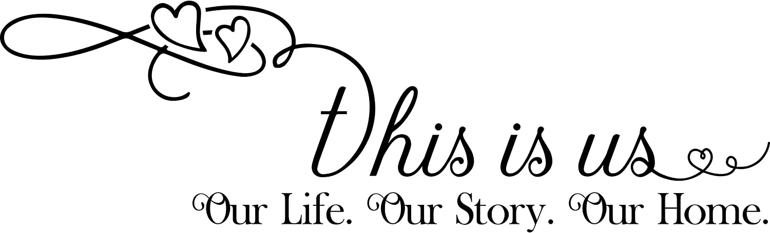 My Vinyl Story This is Us Our Life Story Home Wall Sticker Dining Room Wall Decal for Living Room Family Decor Sign Quote Wall Art Vinyl Wall Decal Kitchen Bed Room Words and Saying Rustic Farmhouse