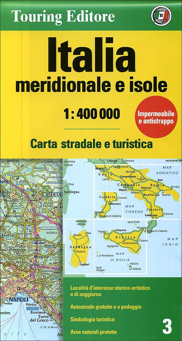 Detailed Map Of Italy In English.Italy South Isles Tci Map 1 400 000 English And Italian Edition